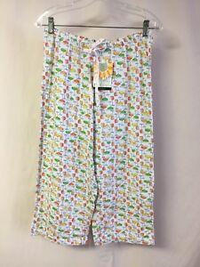 NWT-Women-039-s-Hue-HUEtopia-Sleepwear-Capri-Pajama-Pant-Size-Medium-Multi-1333P
