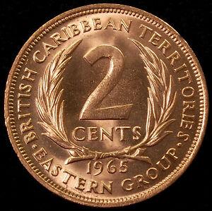 East Caribbean States 2 Cents 1965 (GLIU-001)