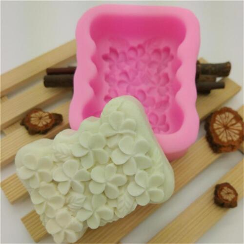 Silicone Soap Mold Flower Shaped DIY Craft Handmade Soap Mould H
