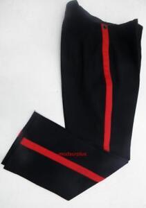 1-034-Scarlet-red-stripe-Army-No1-Fishtail-mess-dress-Uniform-Trousers-steampunk