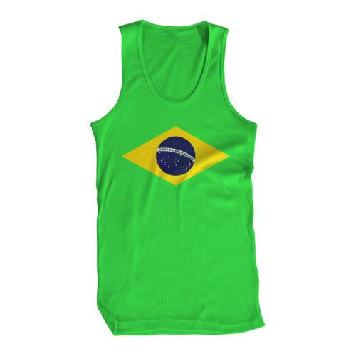 Brasil Ordem E Progresso Rio de Janeiro Brazil Amazon Samba Futbol Mens Tank Top