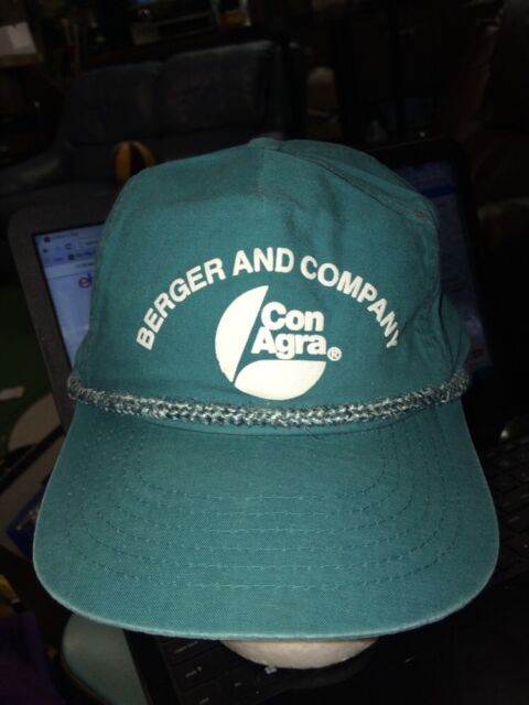 trucker hat baseball cap Berger and company Con Agra retro vintage