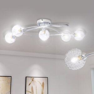AuBergewohnlich Das Bild Wird Geladen VidaXL Deckenlampe Chrom Wohnzimmer Lampe Leuchte  Deckenleuchte Flurlampe