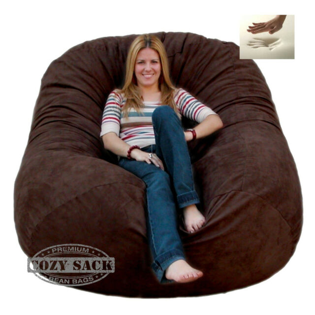 Pleasing Giant Bean Bag Chair 6 Cozy Foam Filled By Cozy Sack Buy Factory Direct Dailytribune Chair Design For Home Dailytribuneorg