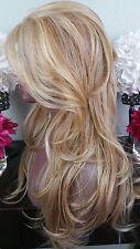 Beautiful Blonde Mix Lace Front Wig Long Wavy Heat Safe