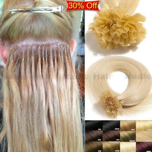 200-Straehnen-Dicke-Echthaar-Bondings-Extensions-Haarverlaengerung-50-55cm-DE-A790