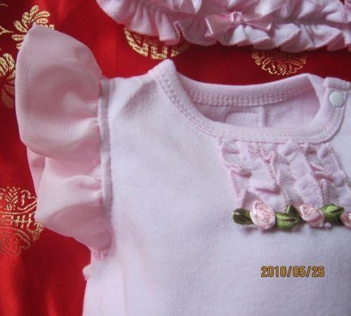 BNIP Baby Girl 2 Piece TUTU Bodysuit /& Headband Set in Pink 6m.9m.12m.18m