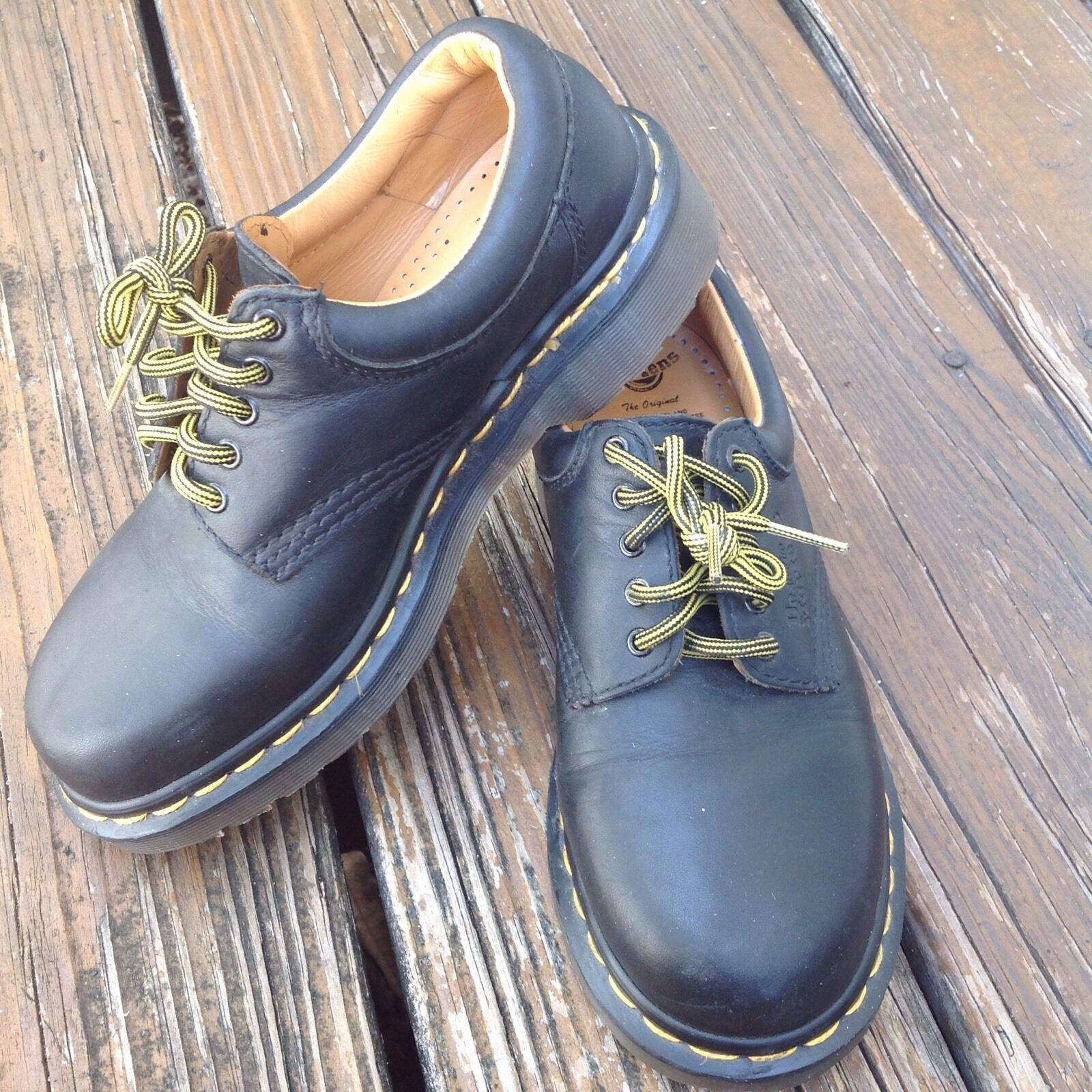 Vintage Dr Martens Docs Black Oxford Leather shoes Men 5 Womens 6 9496 England