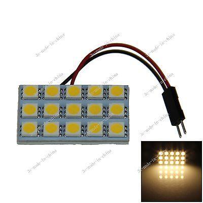 1X Warm White 15 5050 LED Festoon Dome/Door/Box Light Panel Interior Bulb J004