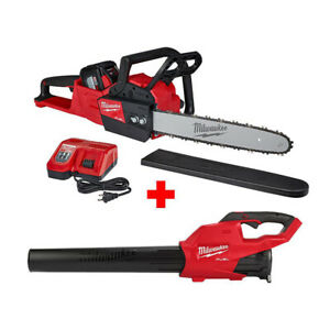 Milwaukee-2727-21HDP-18V-M18-FUEL-Cordless-16-Inch-Chainsaw-amp-Blower-Tool-Kit