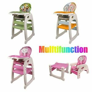 3 In1 Baby High Chair Portable Toddler Table Convertible Feeding