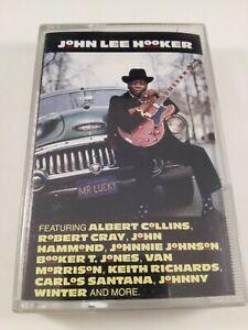 John Lee Hooker : Mr lucky : Vintage Cassette Tape Album from 1991.
