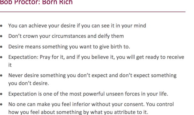Born Rich Bob Proctor Pdf