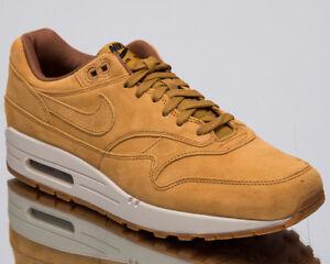 Nike-Air-Max-1-Premium-034-Wheat-034-Men-039-s-New-Casual-Lifestyle-Sneakers-875844-701