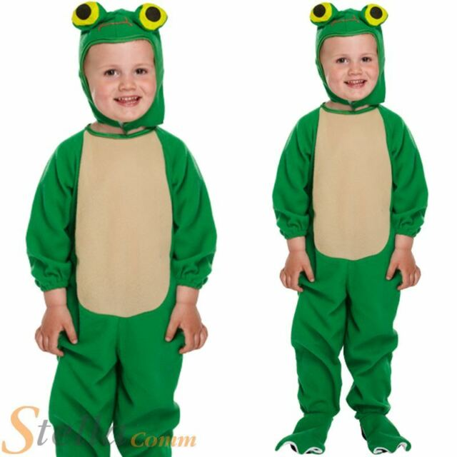 boys girls toddler frog animal fancy dress costume jumpsuit toddler age 2 3