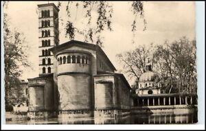 Postdam-Brandenburg-DDR-Postkarte-gelaufen-1963-Sanssouci-Friedenskirche-Kirche