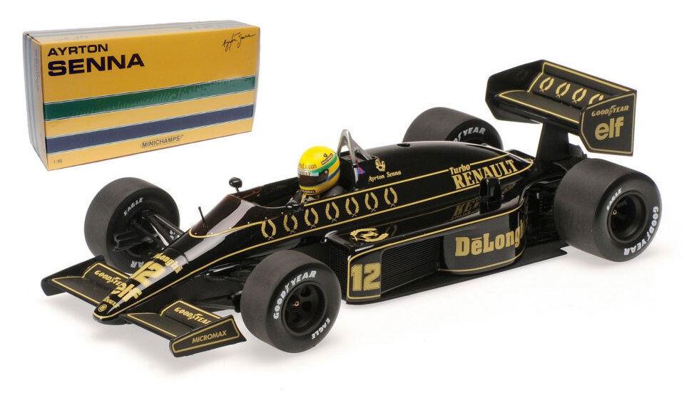 Minichamps Lotus Renault 98T 1986-Ayrton Senna 1 18 Escala