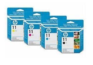 4x-ORIGINAL-HP-Cabezal-de-impresion-Designjet-110-500-800-Nr-11-Set-C4810A