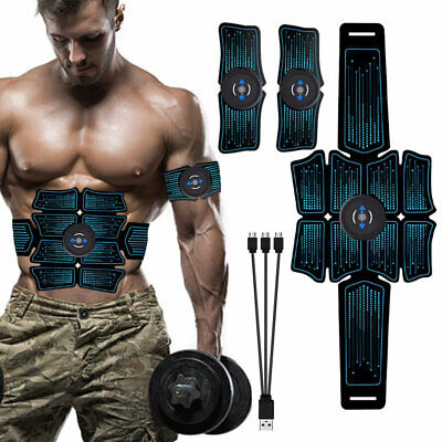 Details about  /EMS Abdominal Muscle Toning Trainer ABS Stimulator Toner FITNESS Gym Belt 8 Pads