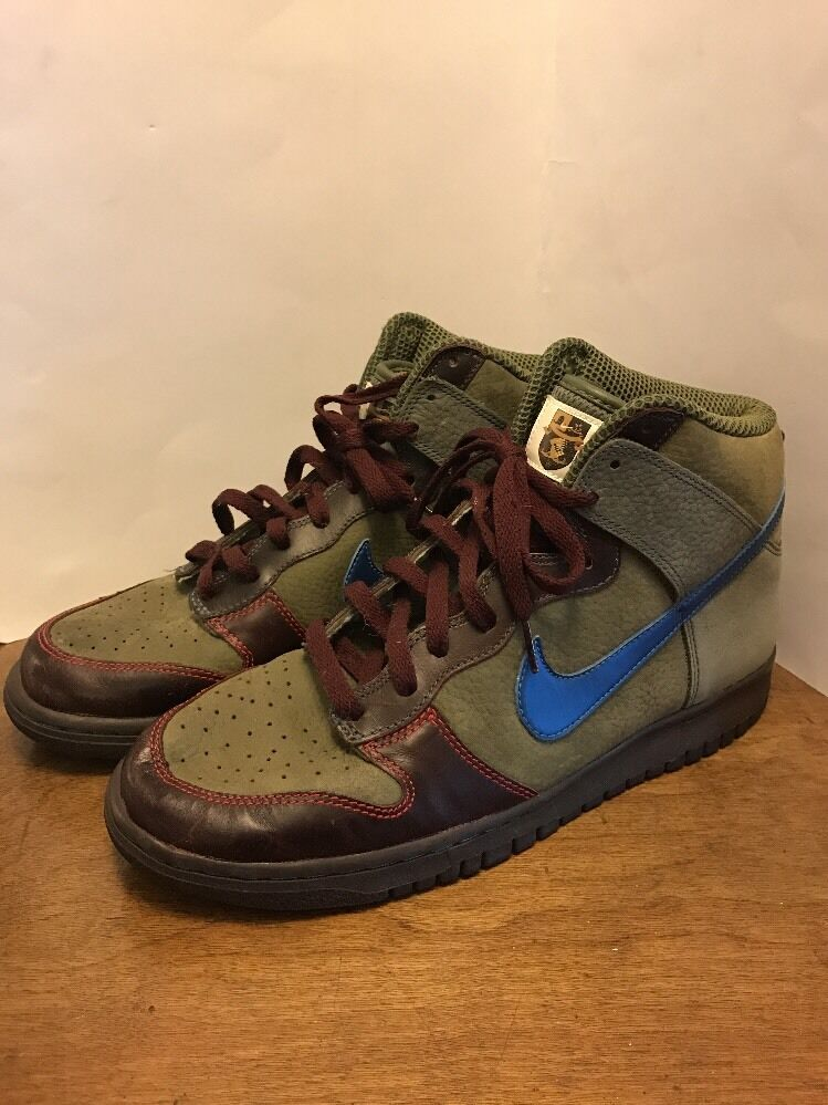 Nike dunk hohe prämie olive / militiary blaue Blau fox wm 306968-341 sz 12