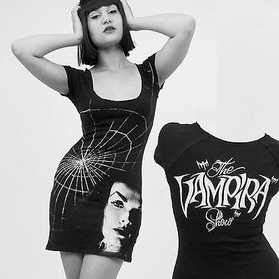 Kreepsville 666 Vampira Shadow Face  Tunic Dress Top Goth Psychobilly Punk*