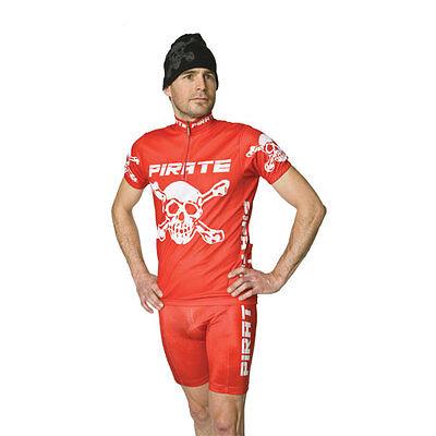 Fahrradhose Gothic, Pirat Pirate Skins Schwarz mit Trägern Skull