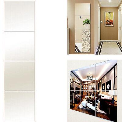 Large Mirror Glass Gym Or Dance Studio Adhesive Wall Tiles Square 50cmx50cm 4pcs Ebay