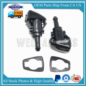2x Windshield Washer Water Nozzle Spray for Chrysler Dodge Ram Replace