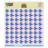 Puerto Rico National Country Flag Puffy Bubble Scrapbooking Crafting Stickers