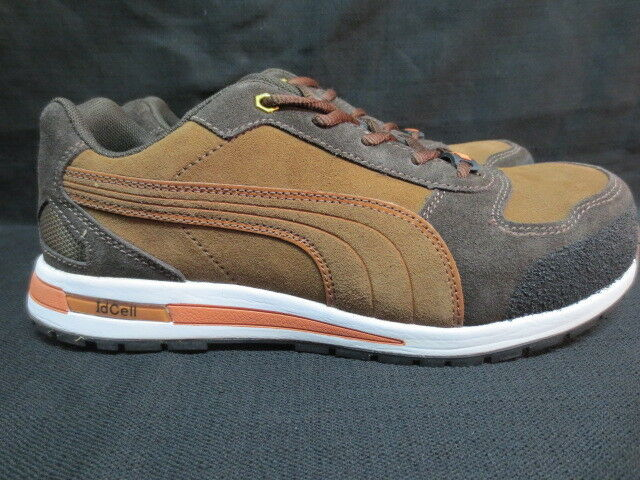 Men's Puma Brown Safety Safety Safety Toe Slip Resistant Work shoes Sneaker Size 8 211d4f