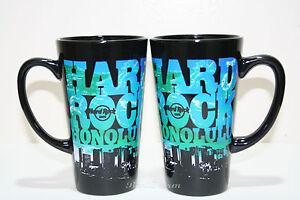 ONE-Hard-Rock-Cafe-Hawaii-Honolulu-Waikiki-COLLAGE-City-Scape-Ceramic-Coffee-Mug