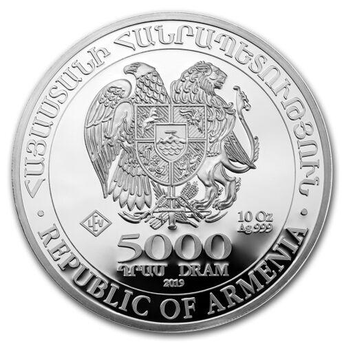 SKU#170444 2019 Armenia 10 oz Silver 5000 Drams Noah's Ark