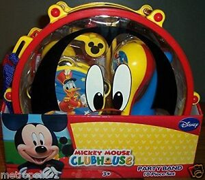 DISNEY MICKEY MOUSE CLUBHOUSE,10 PIECE MUSICAL PARTY BAND TOY SET ...