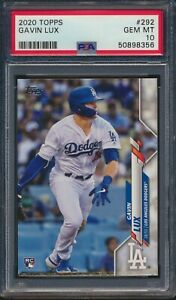 2020 Topps Series 1 #292 Gavin Lux Rookie Card RC Dodgers PSA 10 Gem Mint