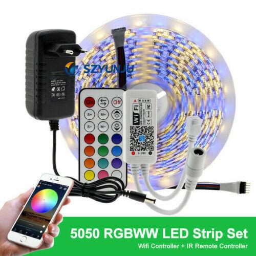 RGB RGBW LED Strip DC12V LED Strip 5050 5m 300LEDs WIFI power Bt Controller