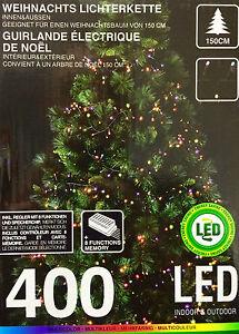 lichterkette 400 led 8 funktion multicolor beleuchtung f r 150cm weihnachtsbaum ebay. Black Bedroom Furniture Sets. Home Design Ideas