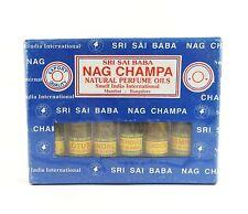 Sri Sai Nag Champa Natural Perfume Oil Gift Set 6 Bottles Containing 3 ml Each
