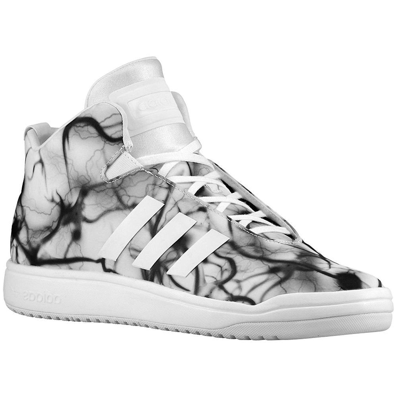 Para Hombre Adidas Veritas Mid blancoo Negro Nailon entrenadores B24357