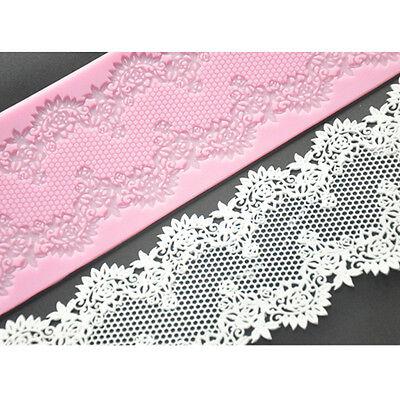 FOUR-C Silicone Lace Mat Mold Cake Design Sugarcraft Fondant Baking Mould Cookie