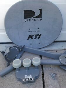 Direct Tv Satellite >> One Direct Tv Satellite Dish Kit And 3 Eyed Lnb Lnbf New Lower