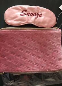 Pink Velvet Double Sided Makeup Bag W