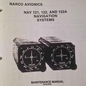 narco nav 121 122 and 122a service parts manual ebay rh ebay com Maintenance Manual Template Facility Manuals