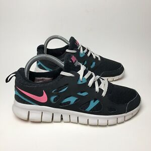 Details about Nike Free Run 2 Women's Size 7.5 Youth Size 6Y Black Teal Pink Miami 2011