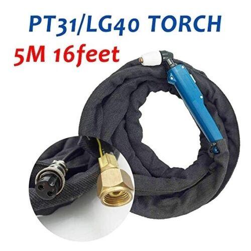 PT31 LG40 Plasma Cutter Cutting Torch Gun 5M 16Feet Fit CUT50D CUT50 CT312 CUT40