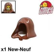 Lego - 1x Minifig headgear cagoule hood jawa marron/reddish brown 30381 NEUF