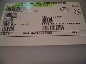 200x SS13-E3 Schottky Diode SMD 30V 1A Vishay General Semiconductor bleifrei
