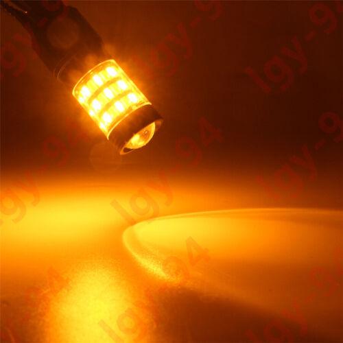 60-SMD Switchback LED Front Turn Signal Light Bulbs for Honda Accord Civic CR-V