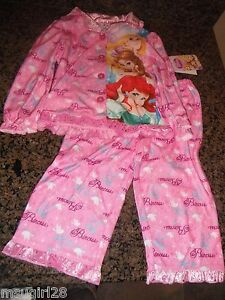 Sleepwear Clothing, Shoes & Accessories Honest Sofia The First 2t 3t Girls Pajamas Pjs Flannel Shirt Pants Princess