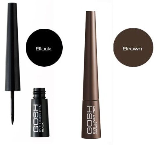 GOSH Eye Liner Pen - quick-drying and tear-proof liquid eye liner