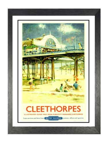 Cleethorpes Seaside North East Lincolnshire Railway Advert Vintage Poster